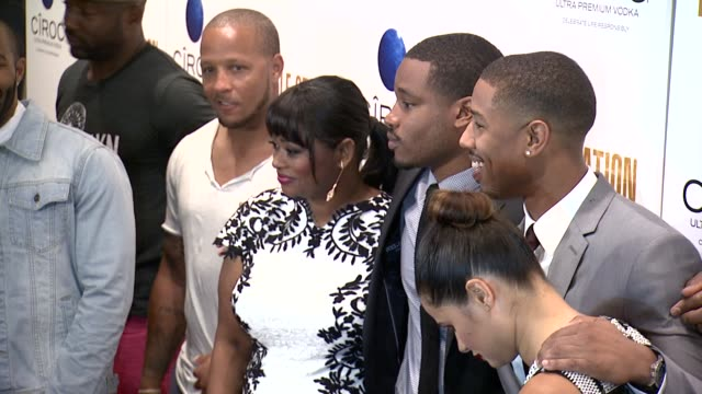 octavia spencer ryan coogler melonie diaz and michael b jordan at fruitvale station new york screening arrivals on july 08 2013 in the museum of... - ryan coogler stock videos and b-roll footage