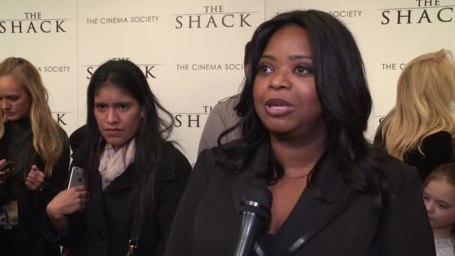 INTERVIEW – Octavia Spencer says she loved the book and has a great message on what the movie is about at The World Premiere Of 'The Shack' at MOMA...
