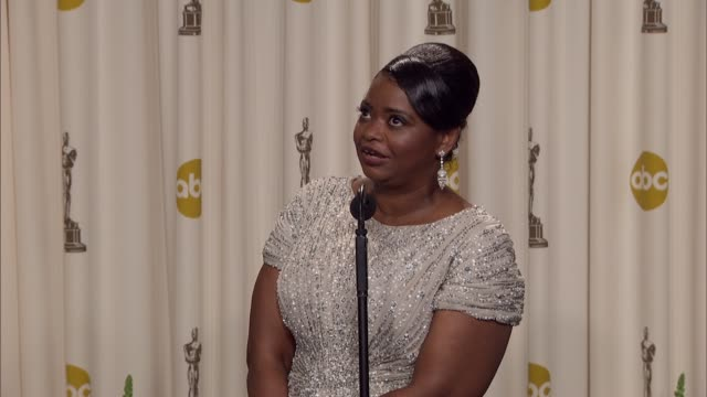 Octavia Spencer talks about overcoming fear in playing her character in the film at 84th Annual Academy Awards Press Room on 2/26/12 in Hollywood CA