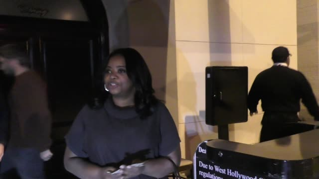 INTERVIEW Octavia Spencer talks football outside Craig's Restaurant in West Hollywood in Celebrity Sightings in Los Angeles
