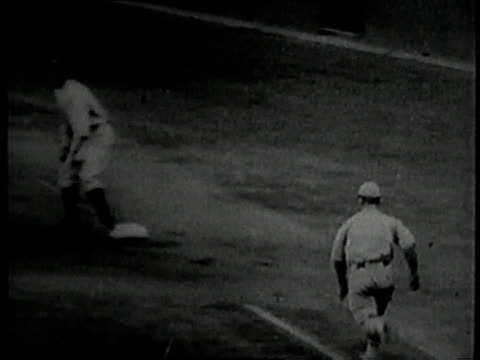 october 10 1923 montage casey stengel hitting a home run in the 1923 world series / new york new york united states - 1923 stock videos & royalty-free footage