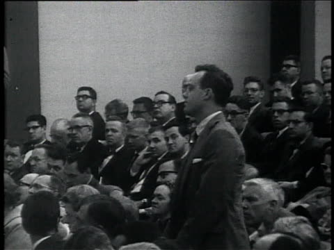 october 11 1961 montage president john f kennedy taking questions from the press at a news conference about vietnam speaking about appropriate... - 1961 stock videos & royalty-free footage