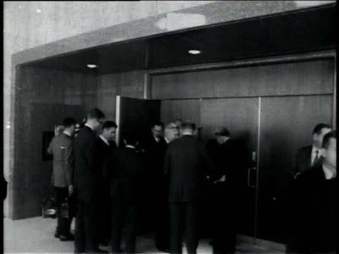 october 11, 1961 president john f. kennedy walking into a press conference regarding vietnam / washington, dc, united states - 1961 stock videos & royalty-free footage