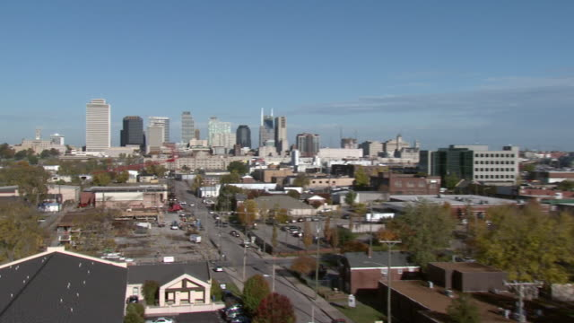 october 14 2009 pan city buildings of memphis / tennessee united states - memphis tennessee stock-videos und b-roll-filmmaterial