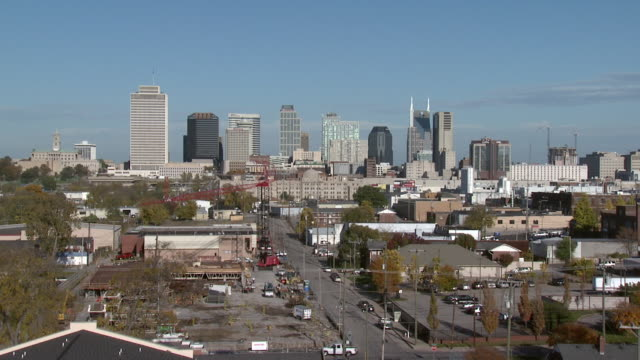 october 14 2009 zi memphis skyline / tennessee united states - memphis tennessee stock-videos und b-roll-filmmaterial