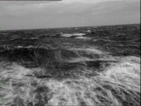 october 1936 b/w montage pov ocean liner on ocean / atlantic ocean - atlantic ocean stock videos & royalty-free footage
