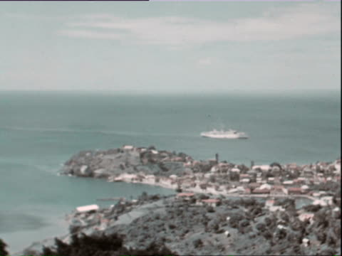 october 1936 ws pan ha harbor with buildings and ships / west indies - caribbean sea stock videos & royalty-free footage
