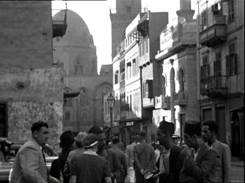 stockvideo's en b-roll-footage met october 1938 b/w montage street scene / cairo, egypt - 1938