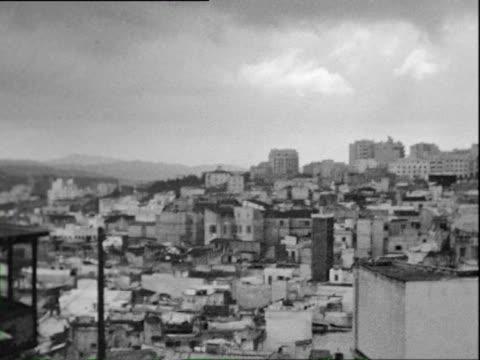 october 1938 b/w ws pan view of algiers / algeria - 1938 video stock e b–roll