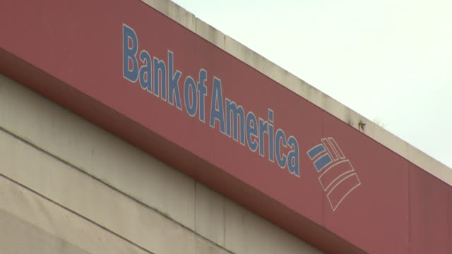 october 22 2009 la bank of america logo sign on building exterior / united states - bank of america stock videos & royalty-free footage