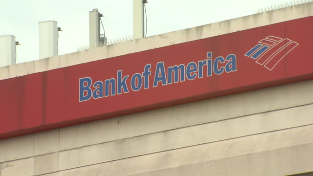 october 22 2009 zi bank of america logo sign on building exterior / united states - bank of america stock videos & royalty-free footage