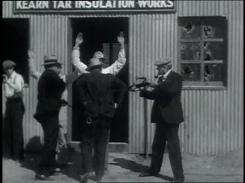 october 24, 1932 reenactment recreation of an federal raid on an illegal still / downey, california, united states - prohibition stock videos & royalty-free footage
