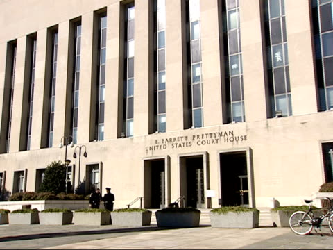 october 29 2001 zo exterior of the e barrett prettyman united states court house / washington dc united states - government building stock videos and b-roll footage