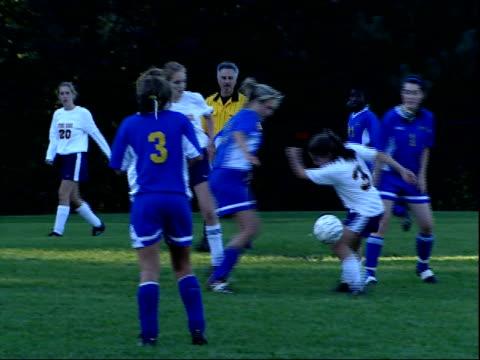october 3, 2003 a high school girls' soccer team game / united states - sportlerin stock-videos und b-roll-filmmaterial