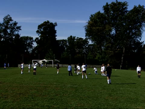 october 3 2003 zi girls' soccer practice at stone ridge high school in bethesda / maryland united states - bethesda maryland stock videos & royalty-free footage