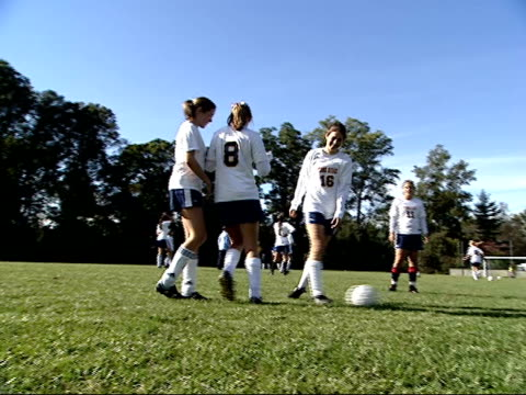 october 3 2003 ts girls' soccer practice at stone ridge high school in bethesda / maryland united states - bethesda maryland stock videos & royalty-free footage