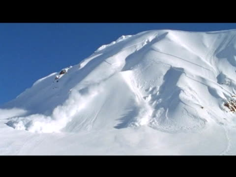October 31 2006 MONTAGE Professional cliff skiers getting caught in avalanches