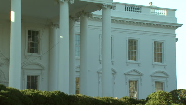 October 31 2008 ZI North portico of the White House in the fall / Washington DC United States