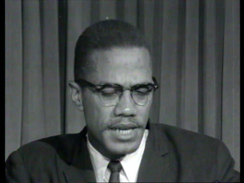 october 7, 1964 malcolm x explaining black nationalism in interview/ london, england/ audio - black history in the us stock videos & royalty-free footage