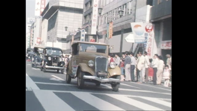 October a classic car parade was formed in Nihonbashi Tokyo