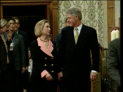 October LIB Bill and Hillary Clinton along and kissing