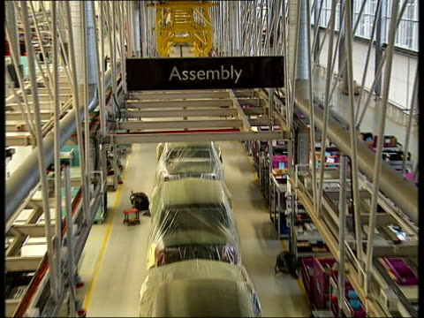 october lib goodwood rolls royce factory assembly line - goodwood stock videos and b-roll footage