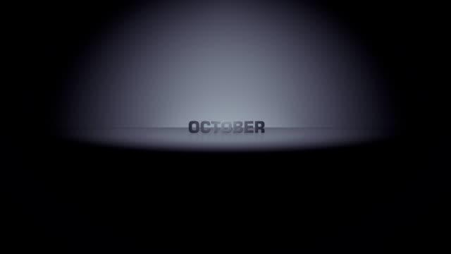 stockvideo's en b-roll-footage met october month horizon zoom - moving past