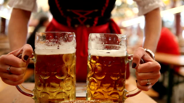 octoberfest girl - german culture stock videos & royalty-free footage