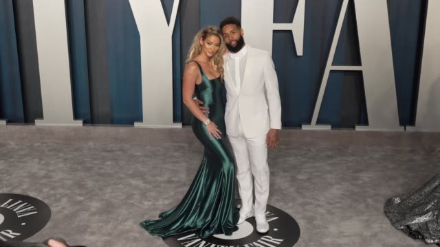 odell beckham jr. at vanity fair oscar party at wallis annenberg center for the performing arts on february 09, 2020 in beverly hills, california. - vanity fair stock videos & royalty-free footage