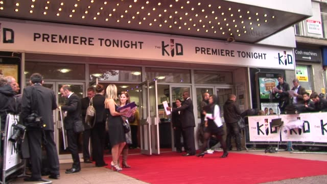 odeon west end at the the kid uk premiere at london england - odeon cinemas stock videos & royalty-free footage