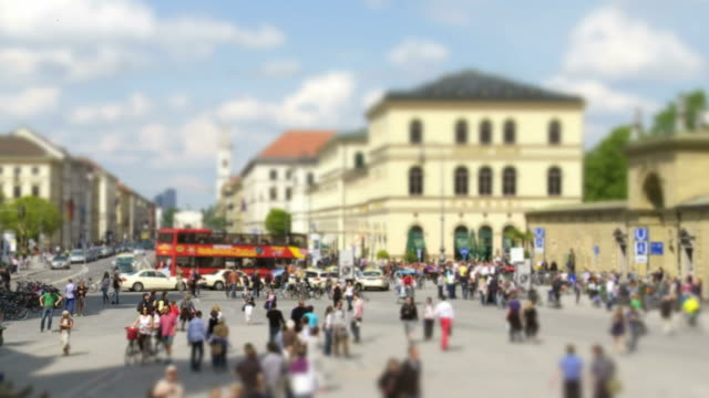 Odeonsplatz In Munich (Tilt Shift And Time Lapse)