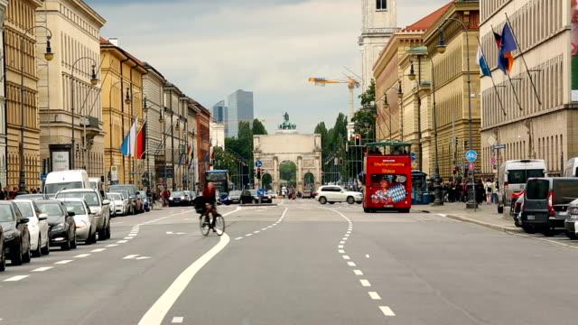 Odeonsplatz with Victory Gate in Munich