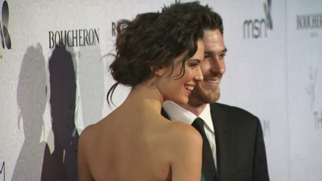Odette Yustman and Dave Annable at the The Art of Elysium's 3rd Annual Black Tie Charity Gala 'Heaven' at Beverly Hills CA
