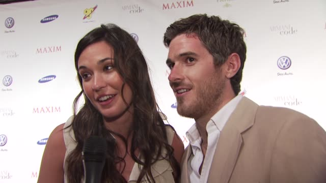 Odette Yustman Dave Annable on being in Miami at the The Maxim Party at Miami Beach FL