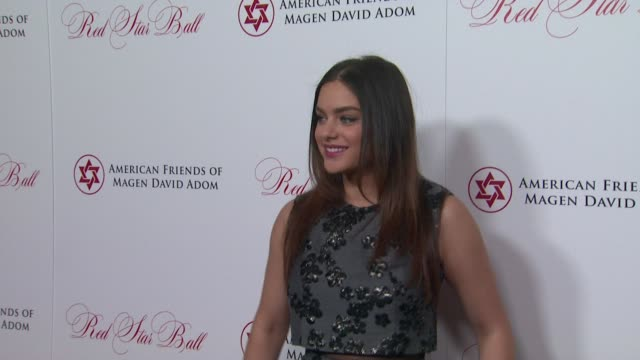 odeya rush at american friends of magen david adom's red star ball at the beverly hilton hotel on october 22, 2015 in beverly hills, california. - the beverly hilton hotel stock videos & royalty-free footage