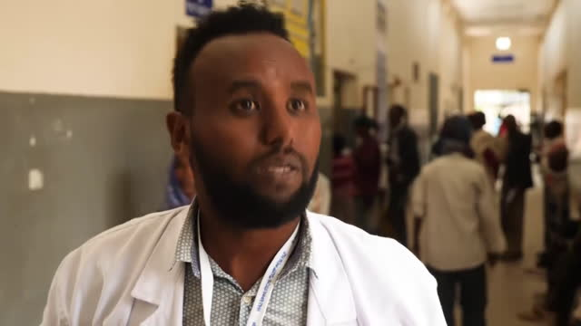 of 2 - shows interior shots overcrowded local hospital in shire, tigray, with refugees in need of treatment filling the corridors and reception,... - conflict stock videos & royalty-free footage