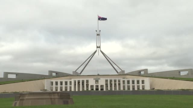 stockshots of australian parliament house in canberra - canberra stock videos & royalty-free footage