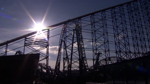 of blackpool pleasure beach - coastal feature stock videos & royalty-free footage