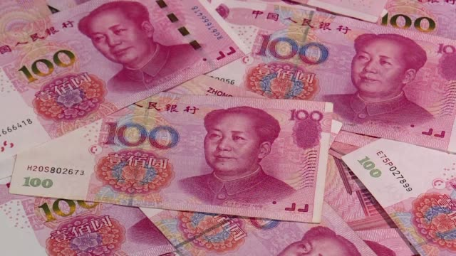 stockshots of china's currency the renminbi - chinese currency stock videos & royalty-free footage