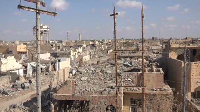 STOCKSHOTS of destruction in Iraq's Ramadi in Anbar province