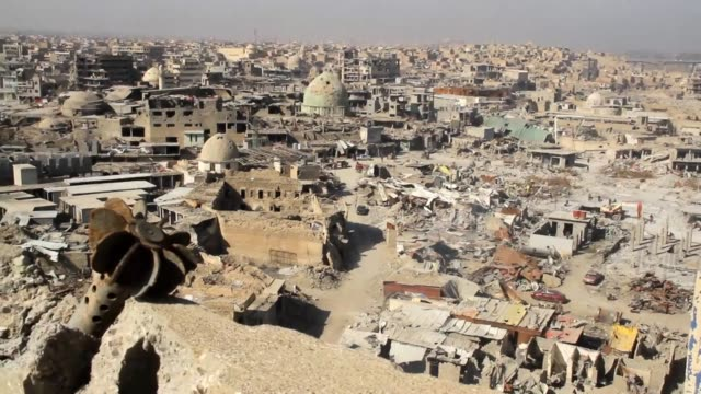 stockshots of destruction in iraq's second city mosul - mosul stock videos and b-roll footage