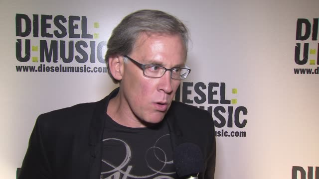 ceo of diesel us steve birkhold on the founder of diesel being into music and the culture of music being tied to diesel at the the 2009 dieselumusic... - popular music tour stock videos & royalty-free footage