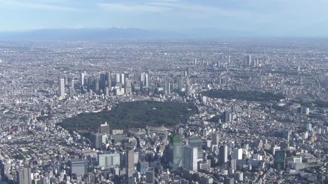 aerial, ws of downtown tokyo, japan - shinjuku ward stock videos & royalty-free footage
