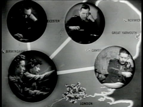 REPRISAL of FEBRUARY 20TH 1942 Colonel setting up conference all CONFERENCE CALL Three Officers on scrambled mission conference from England inside...