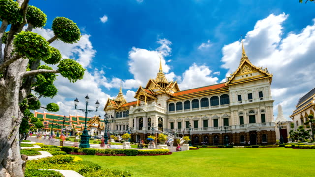 TL WS LD of Grand Palace famous place in Bangkok, Thailand