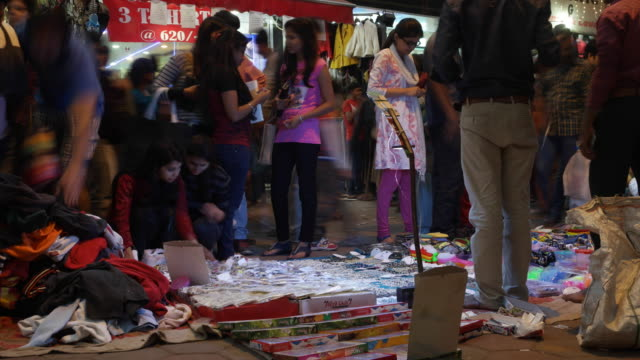 tl of hectic shopping activity during the indian festival season before diwali - retail occupation stock videos & royalty-free footage