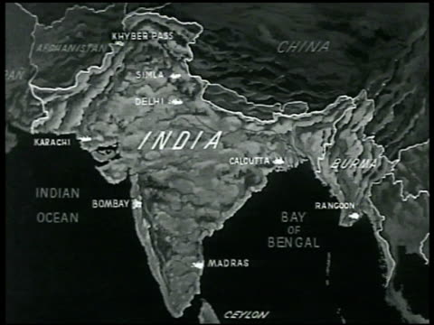 map of india burma - 1940 stock videos & royalty-free footage