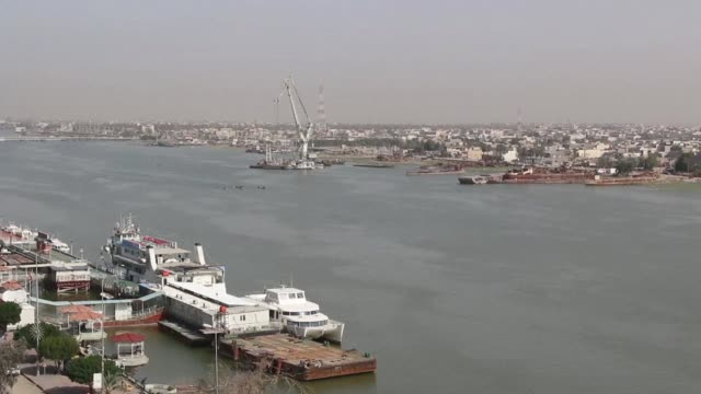 of iraq's port city of basra in the south of the country - basra video stock e b–roll