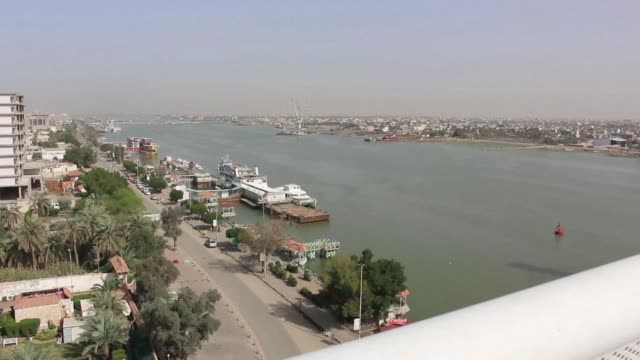 of iraq's third city basra port city in the south of the country - basra video stock e b–roll