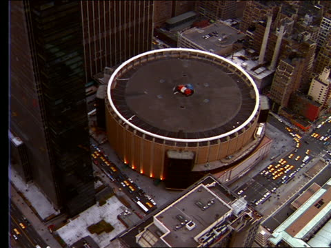 AERIAL of Madison Square Garden / New York City